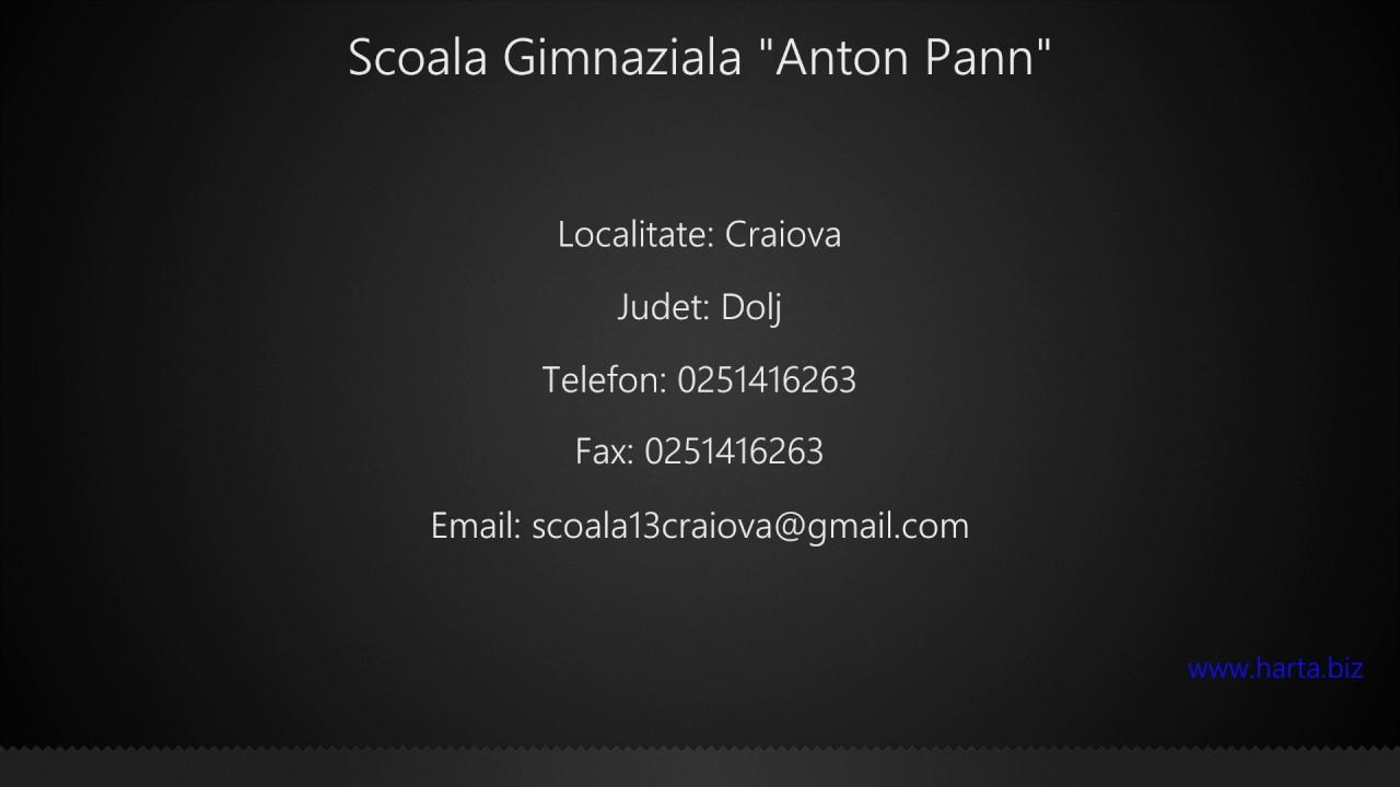 Scoala Gimnaziala Anton Pann Craiova Youtube
