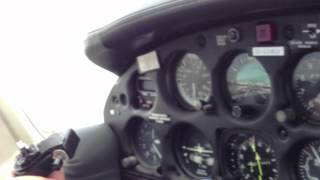 Piper PA 34 200T Seneca II G-LORD Ferry to UK in ice condition and tire blown at the landing