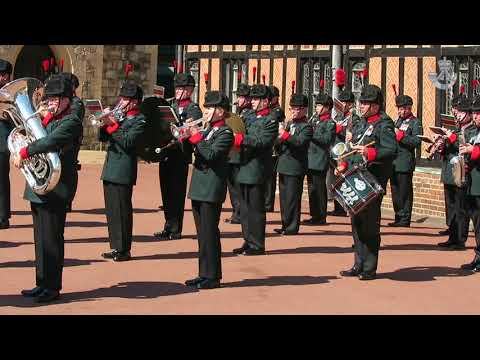 Waterloo Band and Bugles of the Rifles, Windsor Castle Public Duty (5 May 2018)