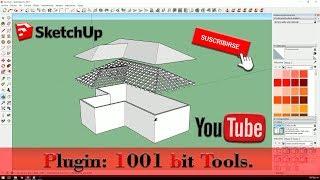 Como hacer cubiertas inclinadas con estructura en Sketchup fácil y rápido.