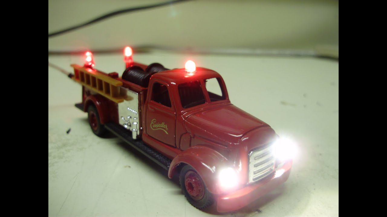 Custom 1 64 Scale 1954 Ahrens Fox Diecast Fire Truck Model