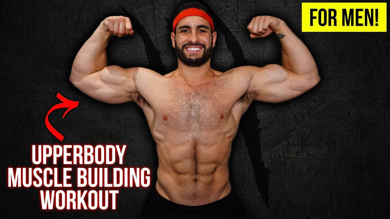 BEAST Upper Body Muscle Building Home Workout For Men (With Dumbbells!!)