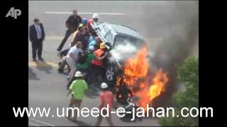 Burning Car Lifted Off Trapped Man  HD Thumbnail