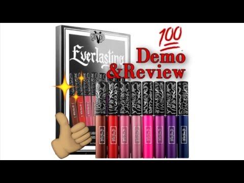 KAT VON D Everlasting Liquid Lipstick SWATCHES, DEMO, FIRST IMPRESSION REVIEW - WOC | SaminSays