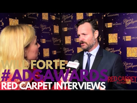 Will Forte #LastManFOX interviewed at the 21st Excellence in Production Design Awards #ADGawards