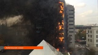 UTV. Пожар на ул. Зорге в Уфе 30.09.2016. Есть погибшие