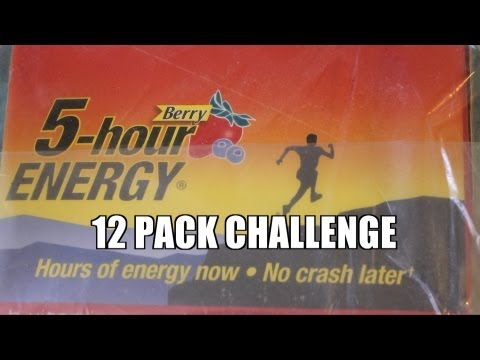 Entire Case Of Hour Energy Drinks Challenge Must See Do Not Try At Home Crazy Ending