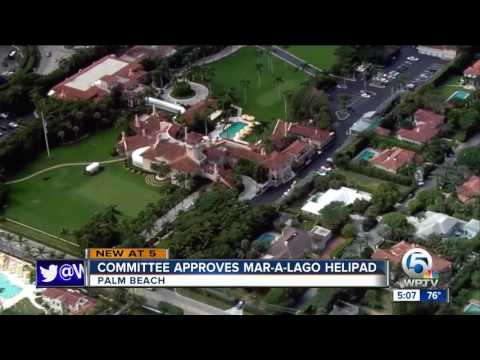 Committee approves Mar-a-Lago helipad