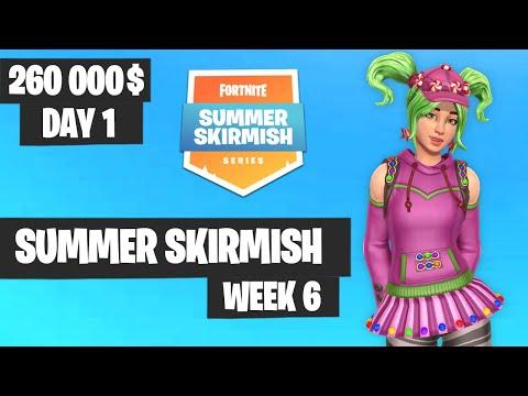 Fortnite Summer Skirmish Week 6 Day 1 NA Highlights
