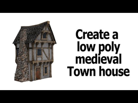 Blender   low poly house unwrap and texture   part 1
