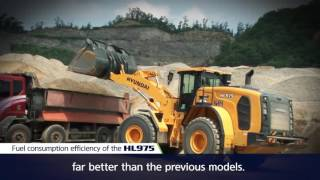 New HL975 Hyundai wheel loader is more reliable, more serviceability.