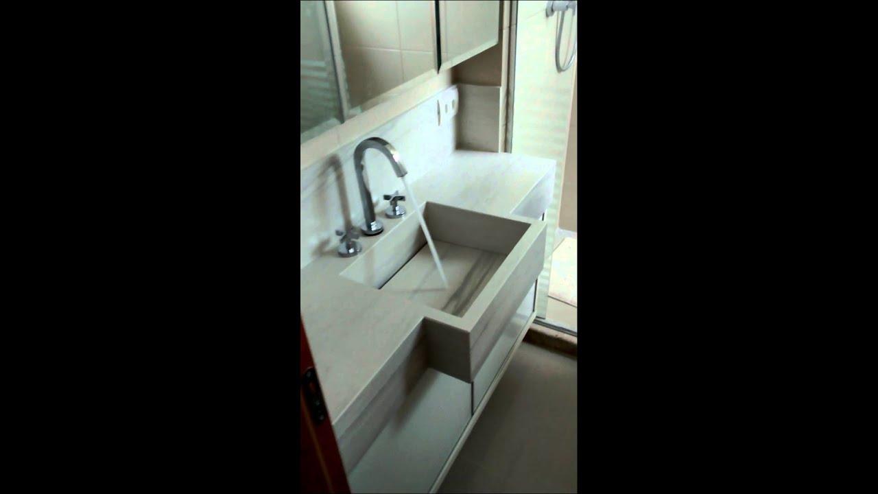 Tecbancadas Curitiba, bancadas em porcelanato  YouTube -> Pia Para Banheiro De Porcelanato