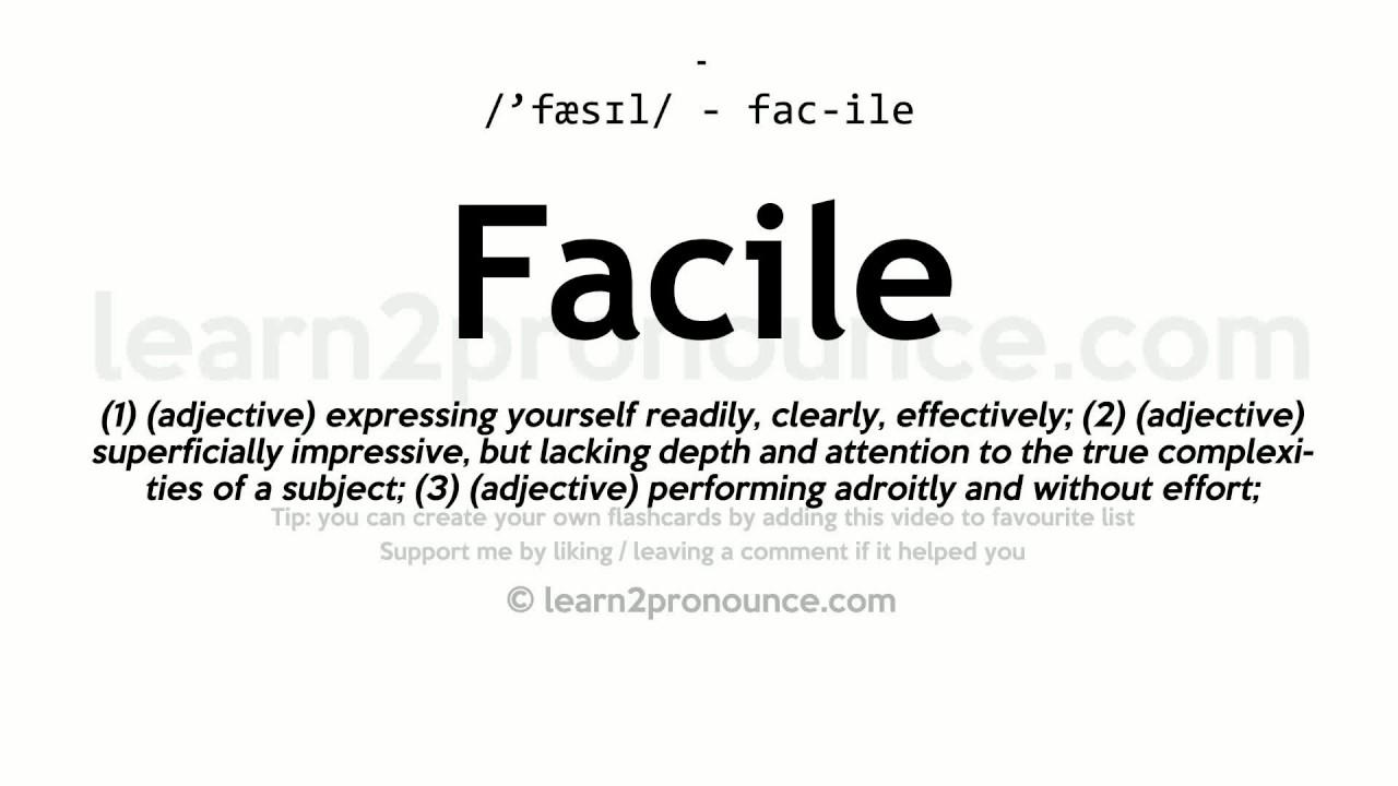 Nice Facile Pronunciation And Definition
