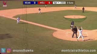Montclair State Baseball Highlights vs. Kean - 4/12/18