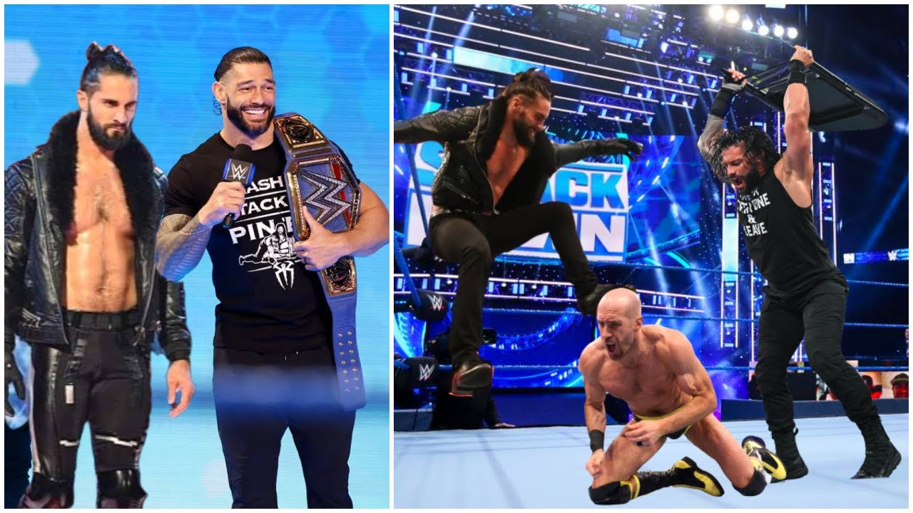 Roman Reigns HELPS Seth Rollins DEFEAT Cesaro ? The Shield REUNITED 2021 ?