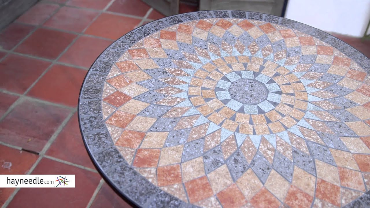 Belham Living Solita Mosaic 30 In. Round Outdoor Bistro Table   Product  Review Video