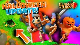 Clash Of Clans HALLOWEEN LEAKS! Giant Skeleton and New Barbarian Skin! Halloween 2017 Update