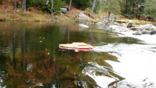Oceanscience Q-Boat 1800P in the Rapids with TRDI Rio Grande