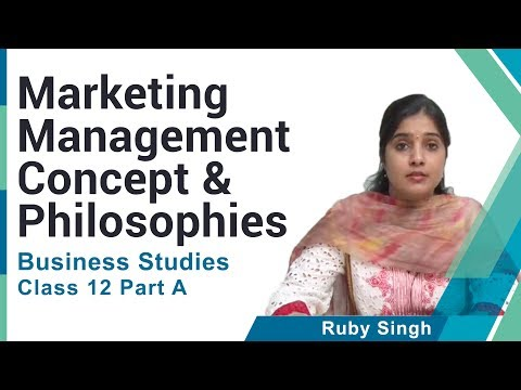 Marketing Management Concept and Philosophies Class XII Business Studies by Ruby Singh