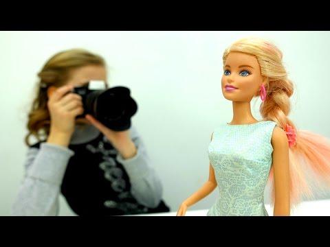 #Барби меняет Платья на ФОТОСЕССИИ 📸 Игры одевалки для девочек 👗 Видео про куклы на #TubeGirls