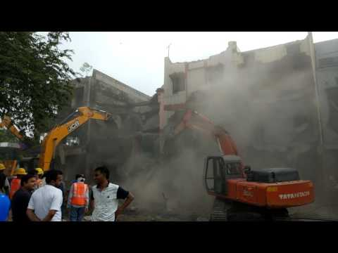 Indore Demolition Drive against Encroachments Bada-Ganpati Square Area for Master Plan!