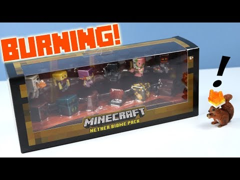 Thumbnail: Minecraft Mini-Figures Nether Biome Pack Toy Review