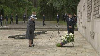 Queen lays wreath at Bergen-Belsen concentration camp