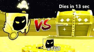 Gold Dominus Huge VS Gold Dominus Chest New Record Destroyed In 13 Sec!!! - Pet Simulator