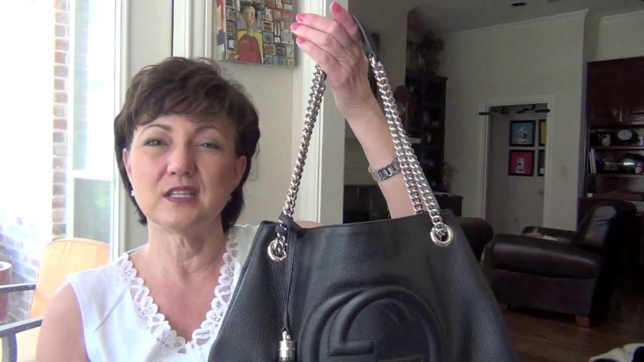 def58474bb1a Gucci Soho Shoulder Tote - YouTube