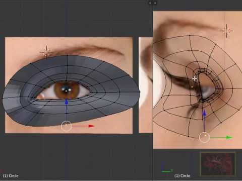 Blender 3D Tutorial - Character Eyes and Head Modeling by VscorpianC