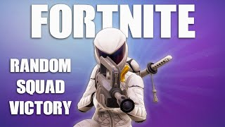 Fortnite Battle Royale Random Squad Victory! Whiteout Skin Game Play