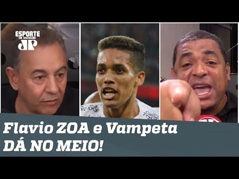 PEGOU FOGO! Flavio Prado zoa Corinthians, e Vampeta D� NO MEIO!