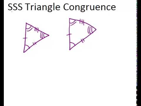 Sss Triangle Congruence Lesson Geometry Concepts