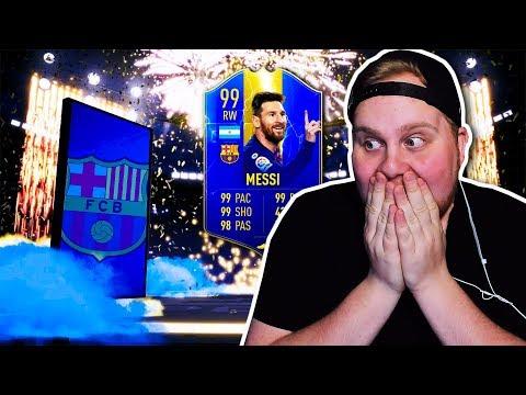 FÅR 99 MESSI TOTS!! Galna Playerpicks & Packs!! - FIFA 19 SVENSKA