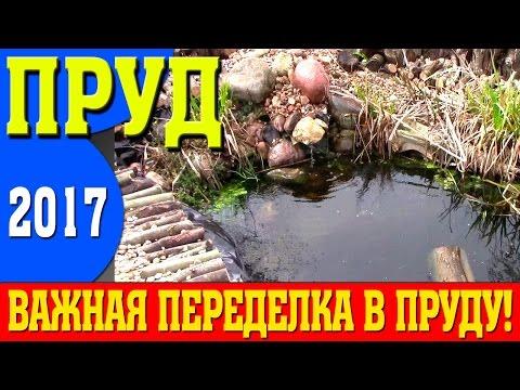 Пруд 2017! ВАЖНАЯ ПЕРЕДЕЛКА пруда и ОЧИЩЕНИЕ пруда - пруд своими руками!