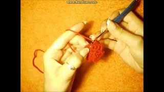 #как связать берет крючком видео+как связать берет knitting lessons №1