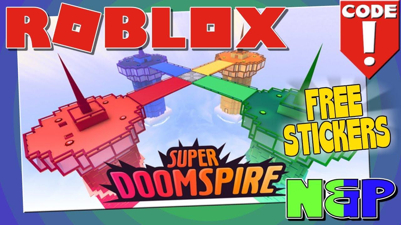 Roblox Super Doomspire Brickbattle Codes Stickers Gratis Free Stickers Super Doomspire Roblox Code