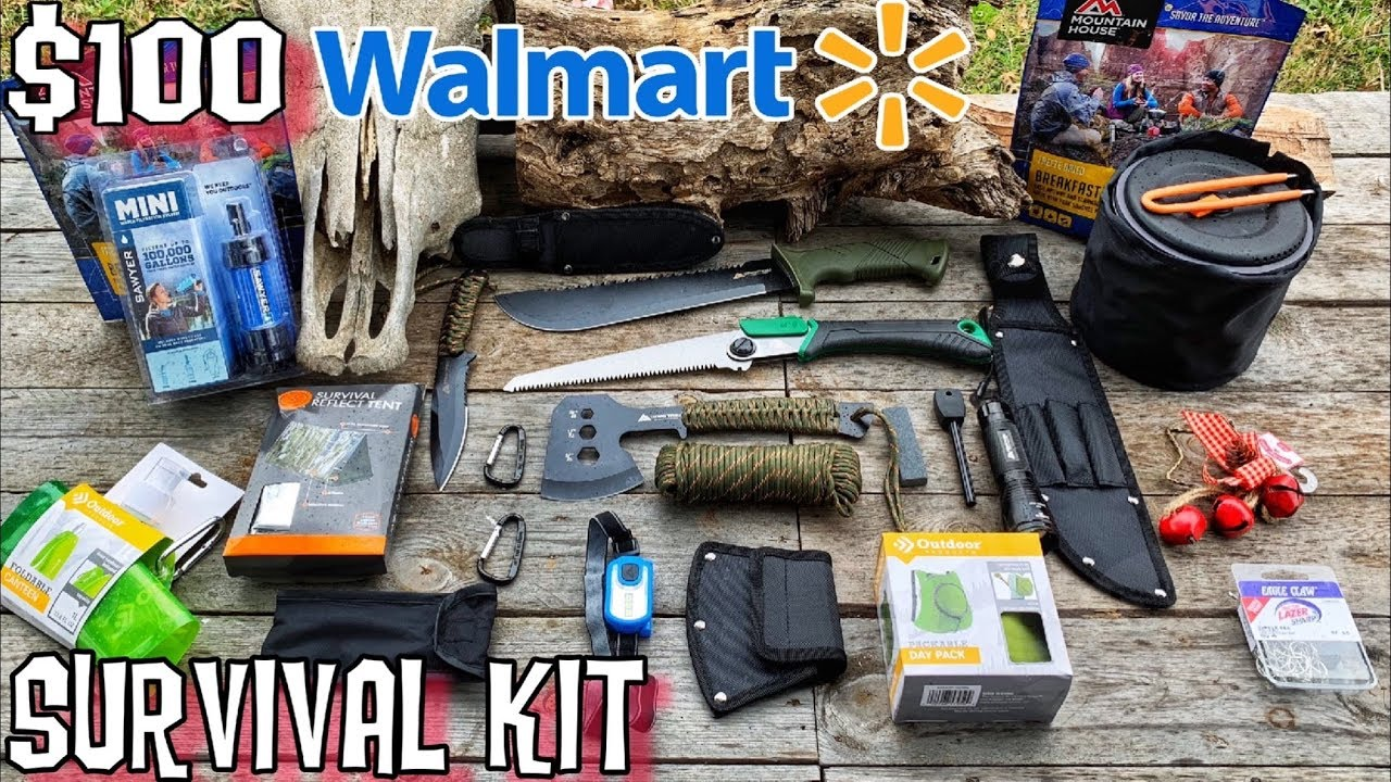 $100 Walmart Survival Kit - 7 Day Survival Challenge - Ultralight Bugout on zombie survival house ideas, zombie lesson plans, mini pool house plans, zombie apocalypse plan, zombie survival camp plans,