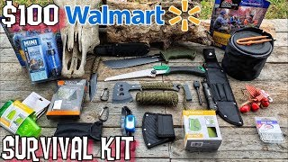$100 Walmart Survival Kit! Ultralight Bugout Bag for 7 Day Survival Challenge