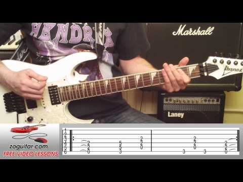 How To Play TNT by AC/DC on Guitar (main riff) + TAB