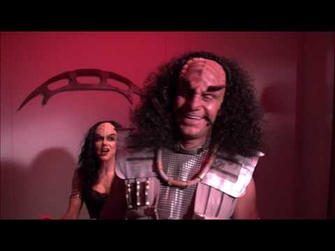 Vic Mignogna and  Michele Specht As Klingons. In this lost behindthe s footage from 2009
