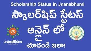 How to check student scholarship status Online in Jnanabhumi Andhra Pradesh