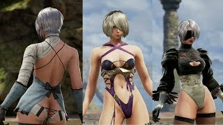 Soul Calibur VI: 2B In All Sexy Outfits & All Female Fighters As YoRHa Units