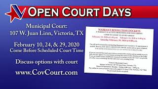 City of Victoria Open Municipal Court Days FEB 2020