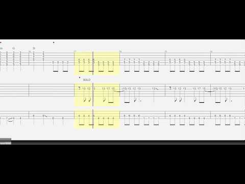 Guitar Tab - Bass tab - Trio - Boulevard of Broken Dreams - Solo Guitar