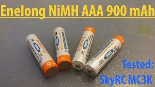 Тест аккумуляторов Enelong NiMH AAA 1.2V 900mAh.