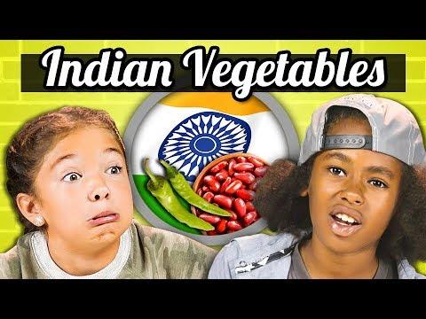 KIDS EAT INDIAN VEGETABLES | Kids Vs. Food