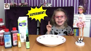 Experiment mit Milch - Lebensmittelfarbe - Spüli 💥 Sachen aus der Küche