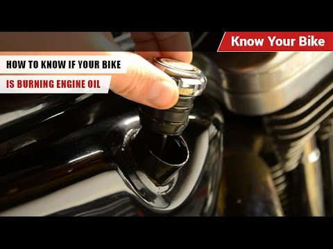 How to know if your bike is burning engine oil know your for Does motor oil burn