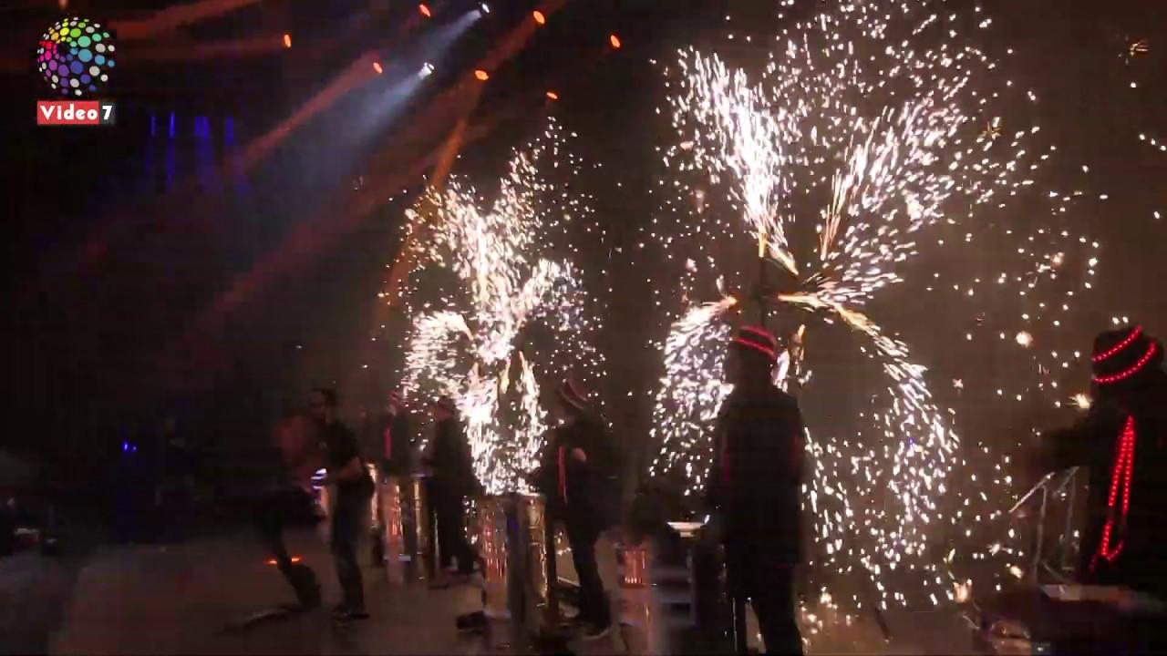 اليوم السابع :عروض مذهلة للألعاب النارية في حفل تامر حسنى باستاد القاهرة